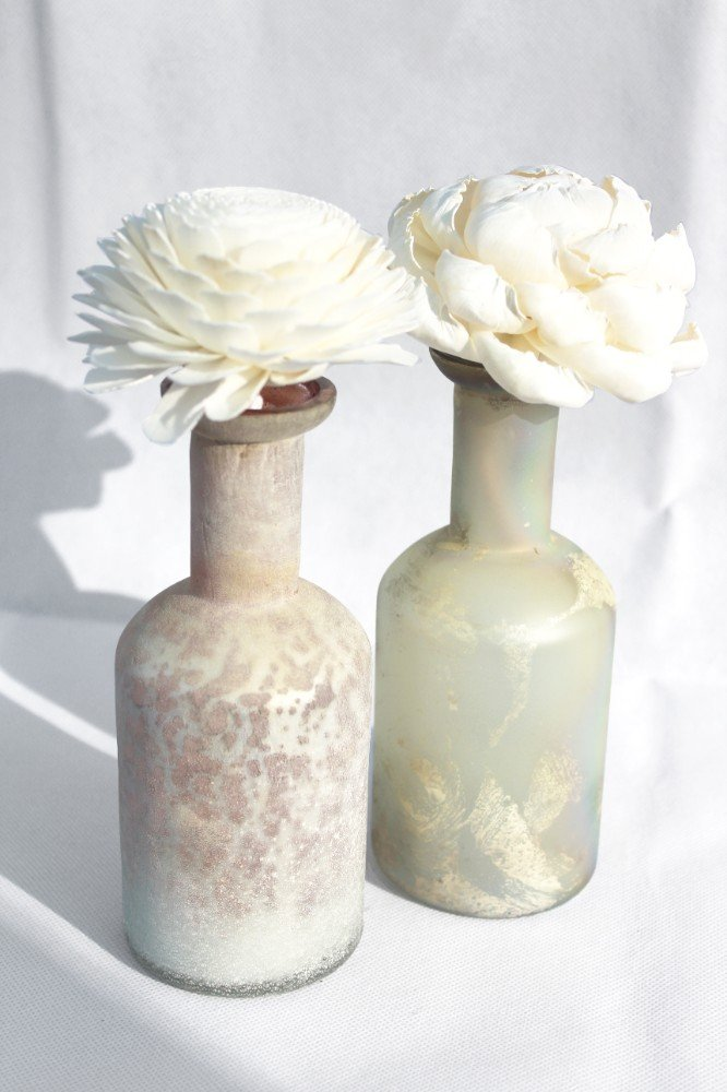 Tall Distressed Finish Vintage-style Diffuser Bottles from Vintage & Bespoke Ltd