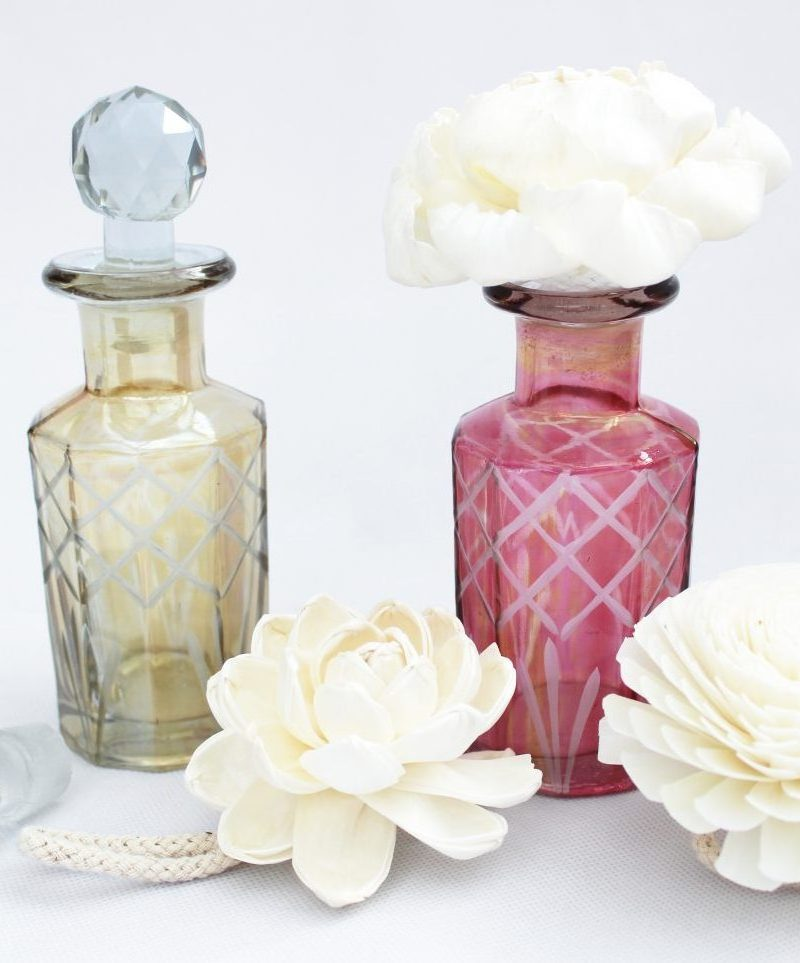 Vintage style Cut glass perfume bottles from Vintage & Bespoke Ltd.