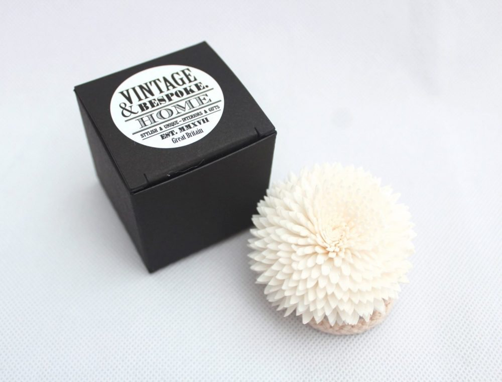 Small Zinnia diffuser flower from Vintage & Bespoke Ltd.