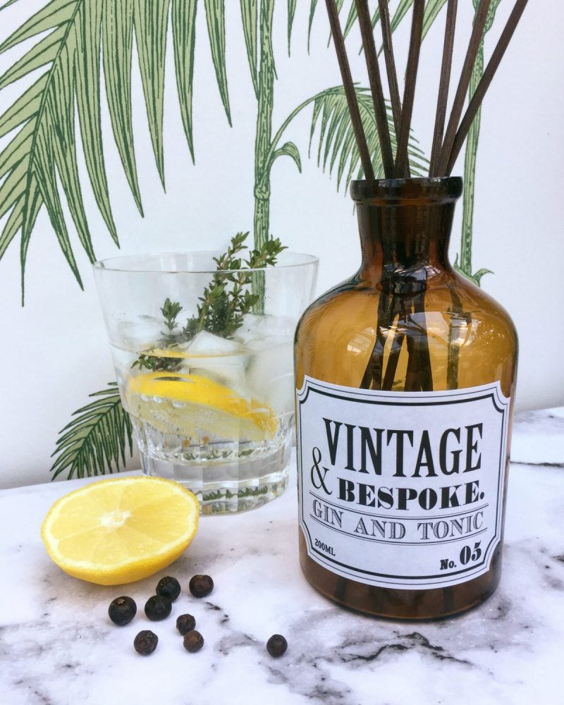 Gin and Tonic Reed diffuser from Vintage & Bespoke Ltd