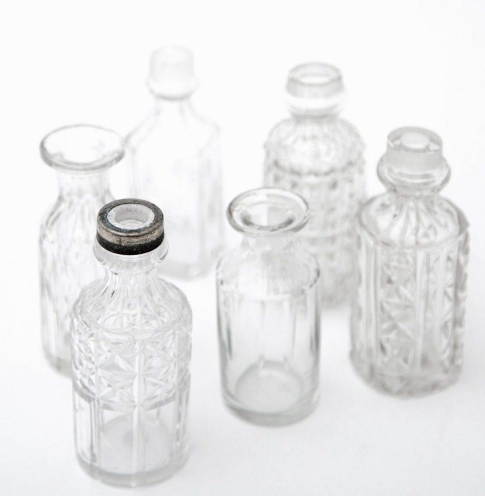mini vintage diffuser bottles