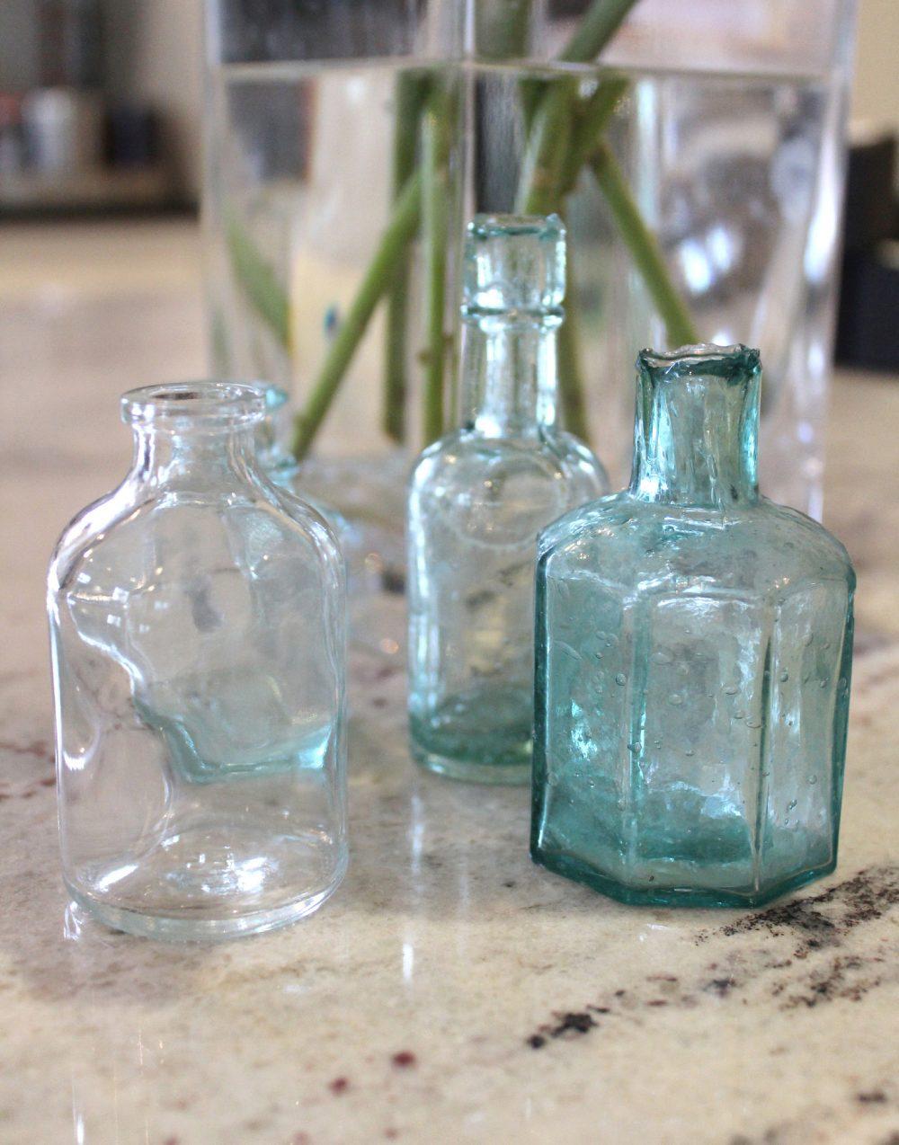 Vintage mini ink bottles