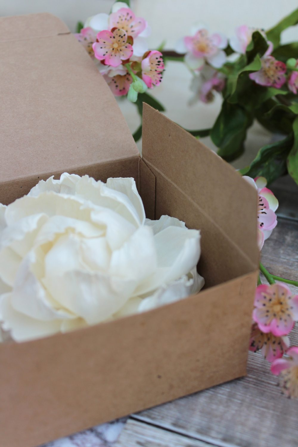 Boxed Peony Diffuser Flower