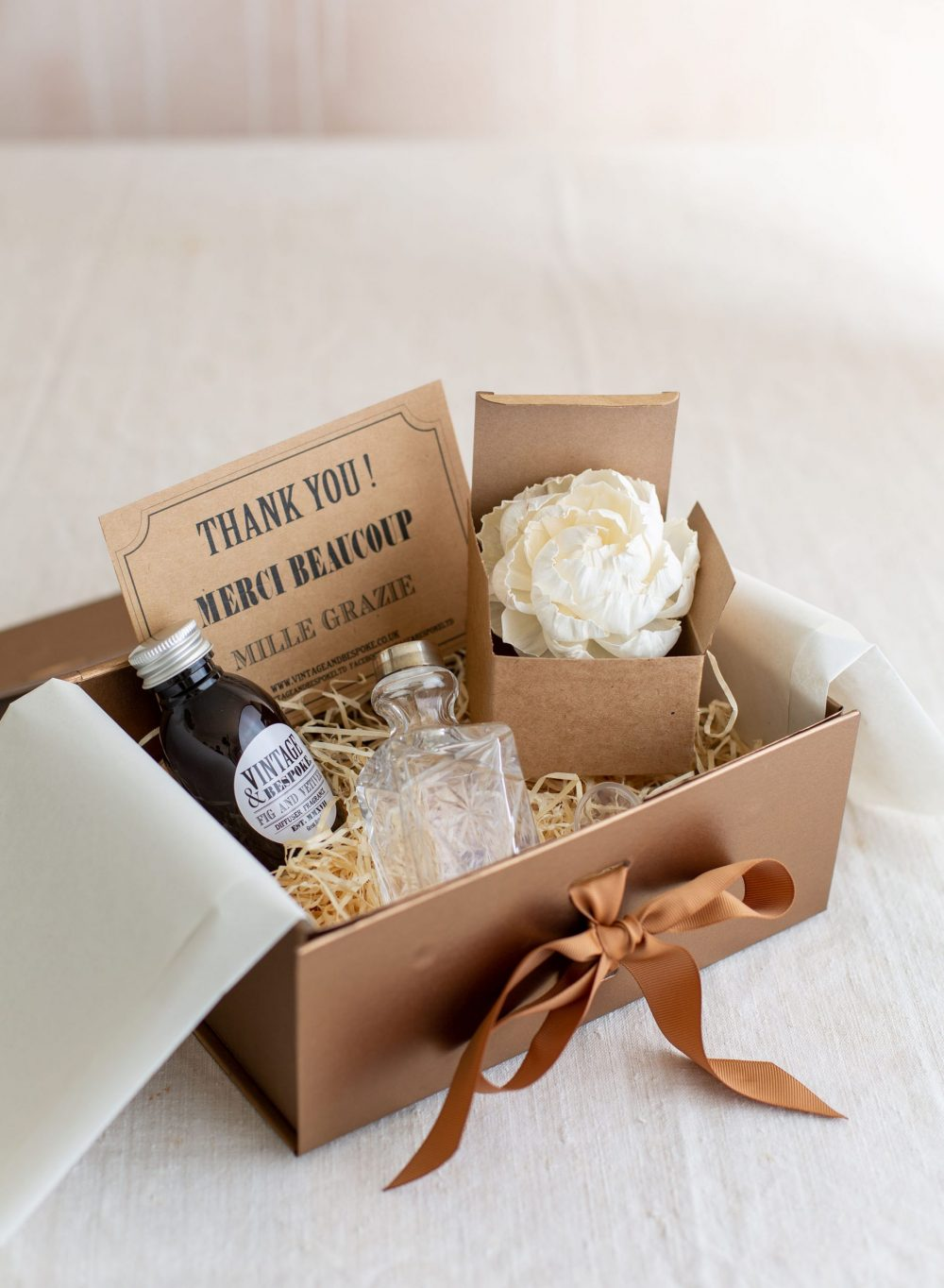 Luxury Flower Diffuser Gift Box from Vintage and Bespoke