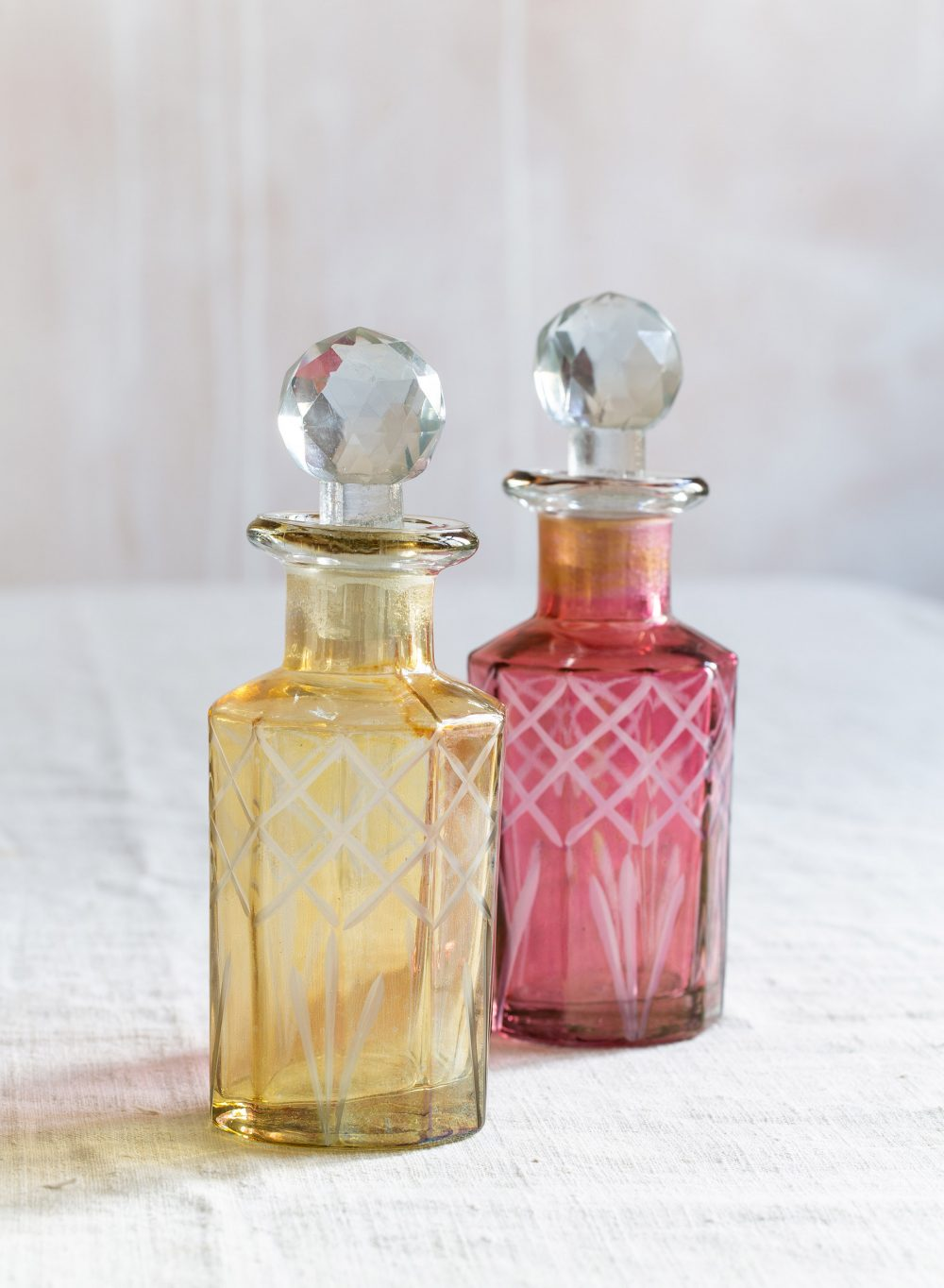 Vintage Style Cut Glass Perfume Bottles