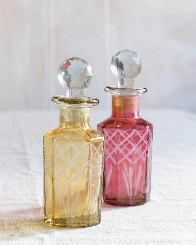Vintage Style Cut Glass Perfume Bottles