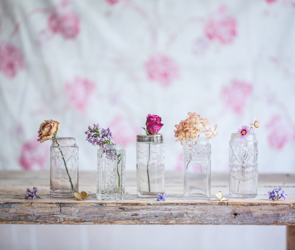 Small Vintage Flower Vases