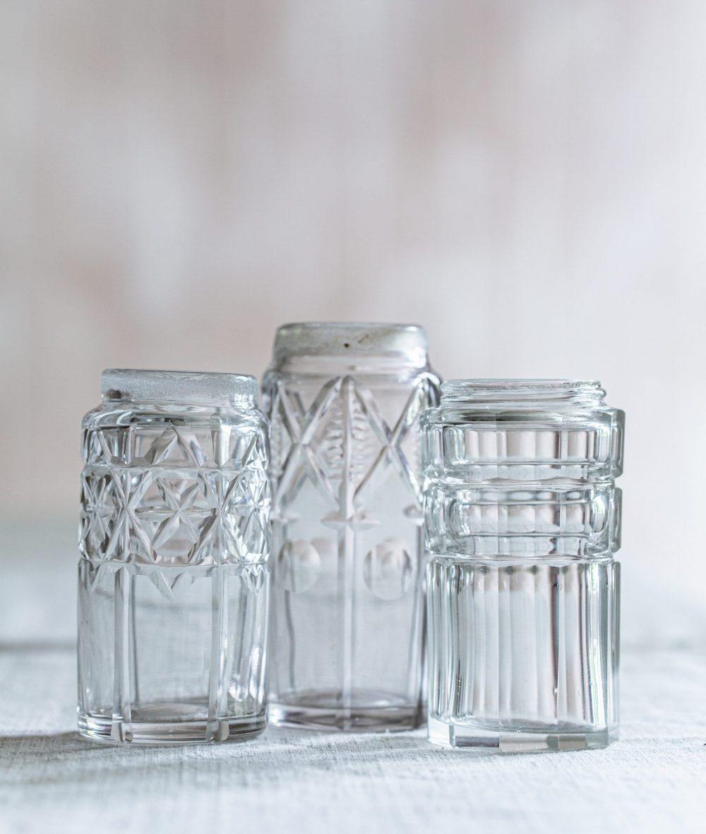 set of three mini flower vases