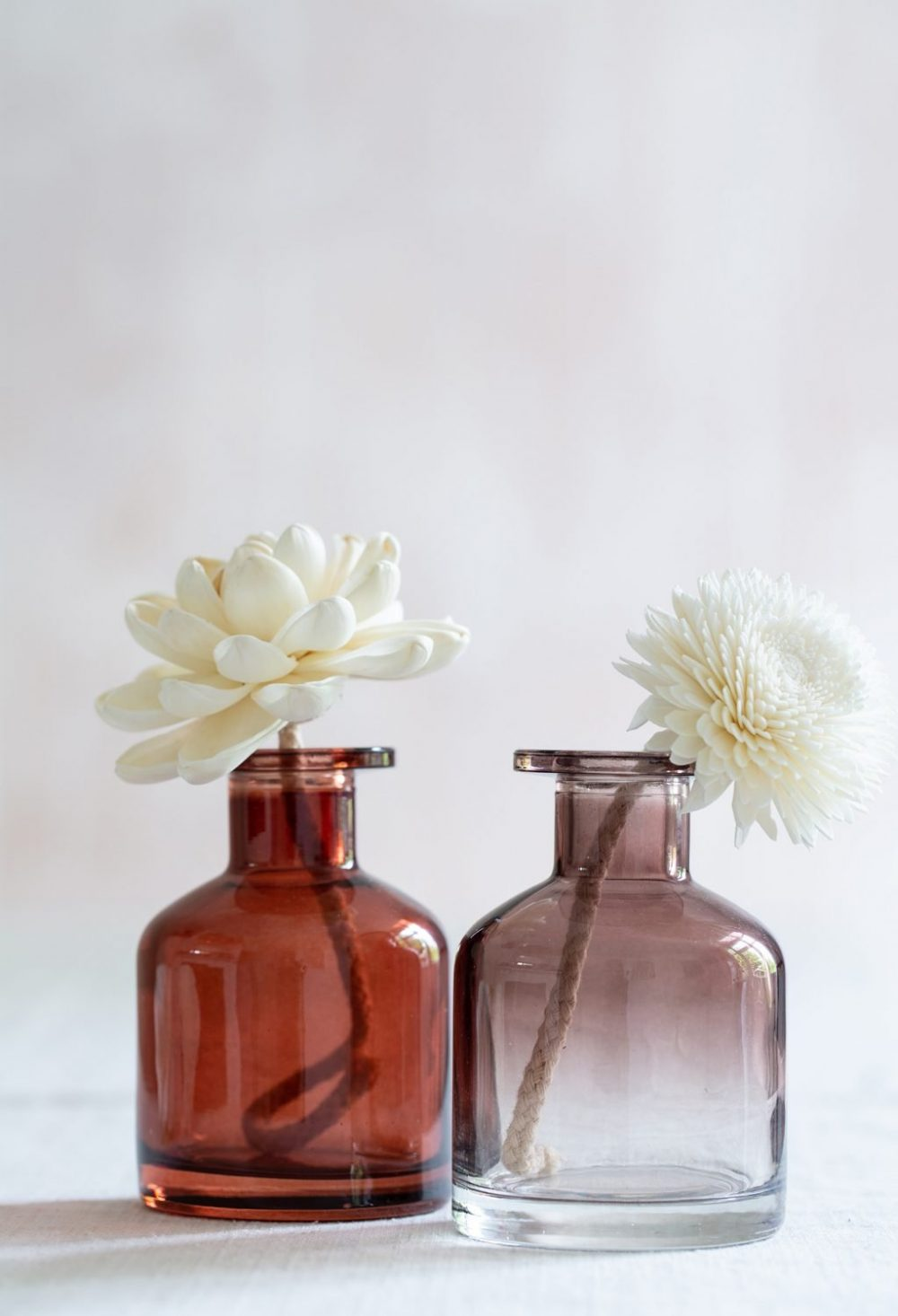 Amber apothecary diffuser bottles
