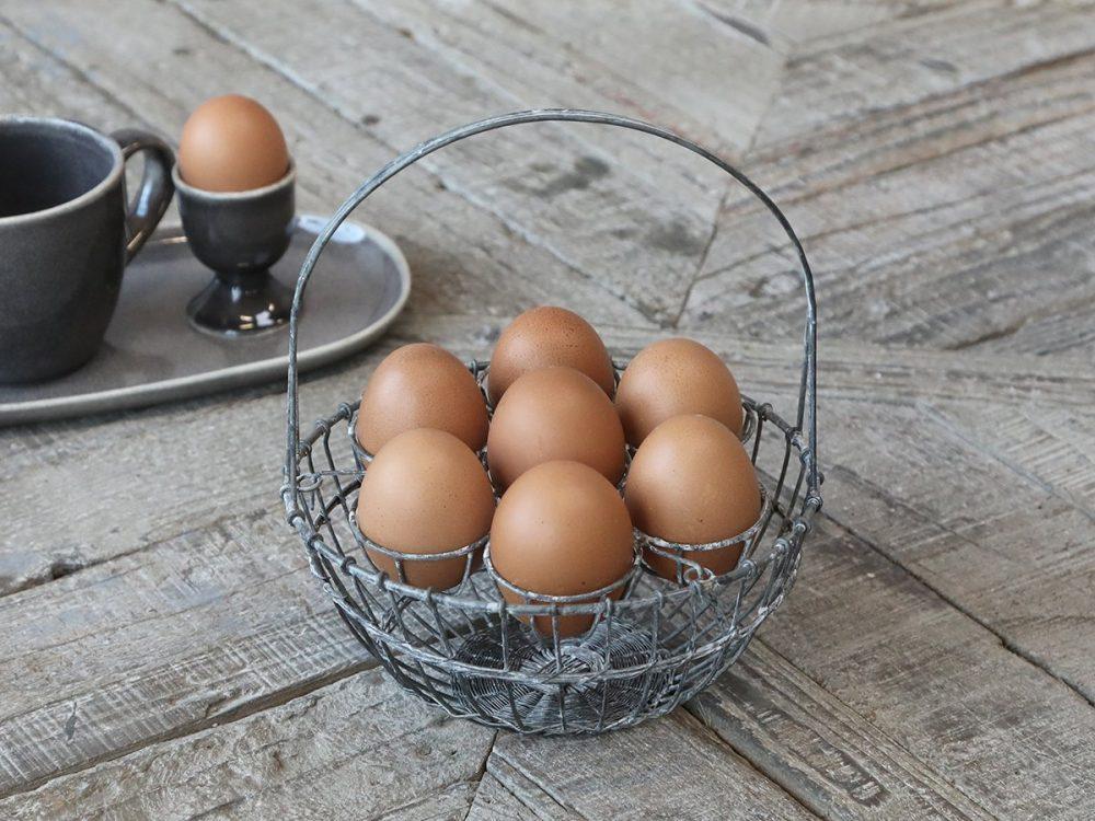 Zinc Egg Basket