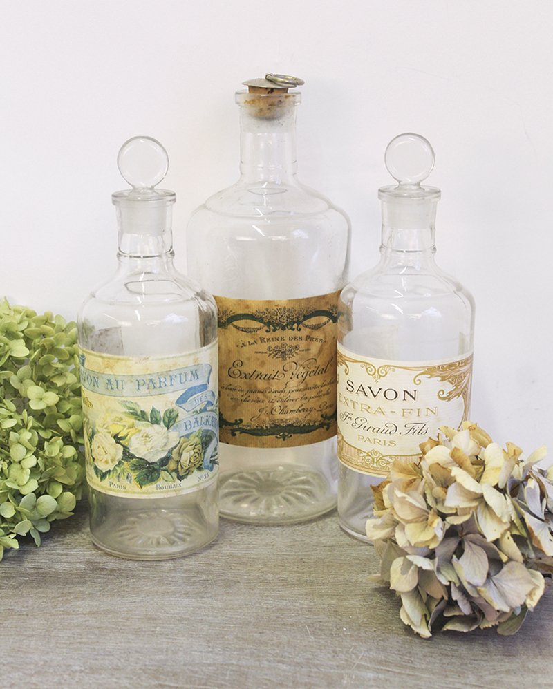 french decorative bottles
