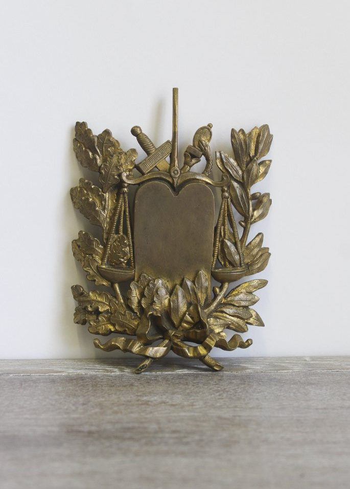 French Gilt Plaque