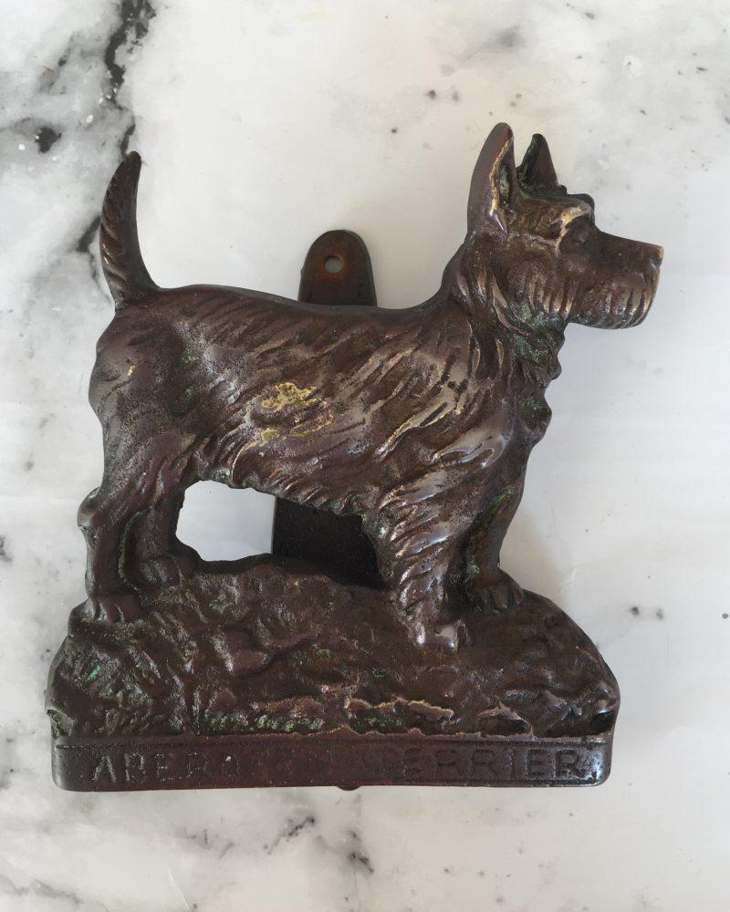 Brass Terrier Door Knocker