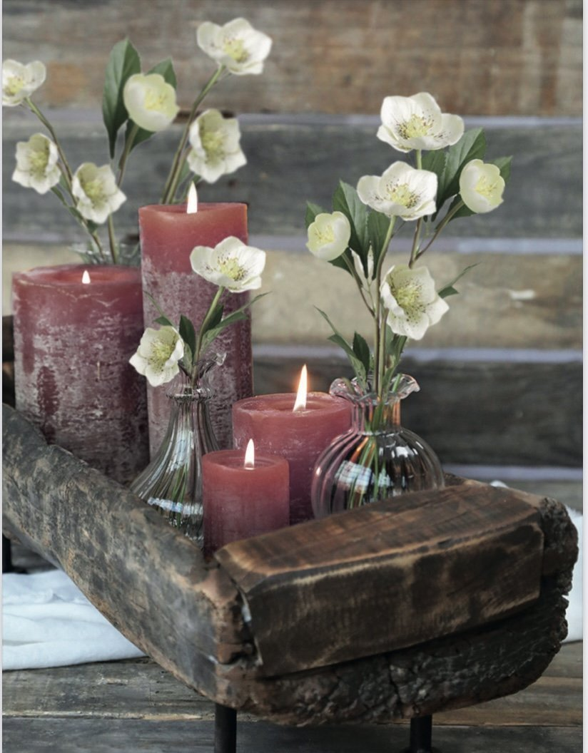 Rustic Pillar Candles