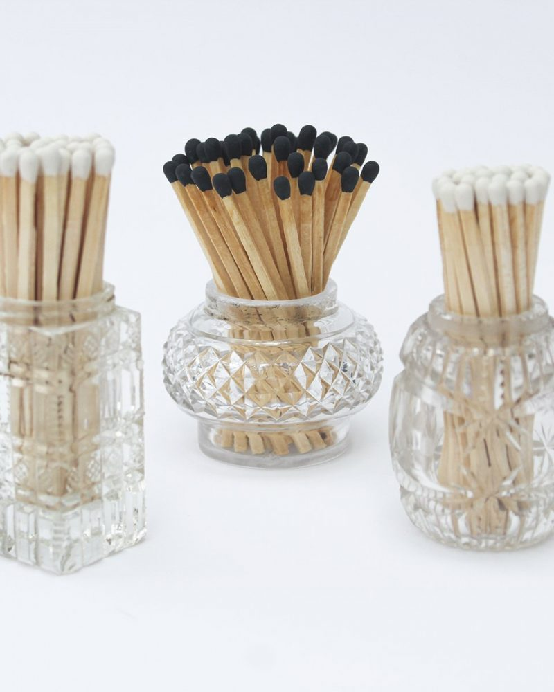 Vintage Match Pots from Vintage and Bespoke Ltd