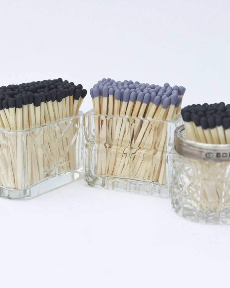 Glass Match Pots from Vintage and Bespoke