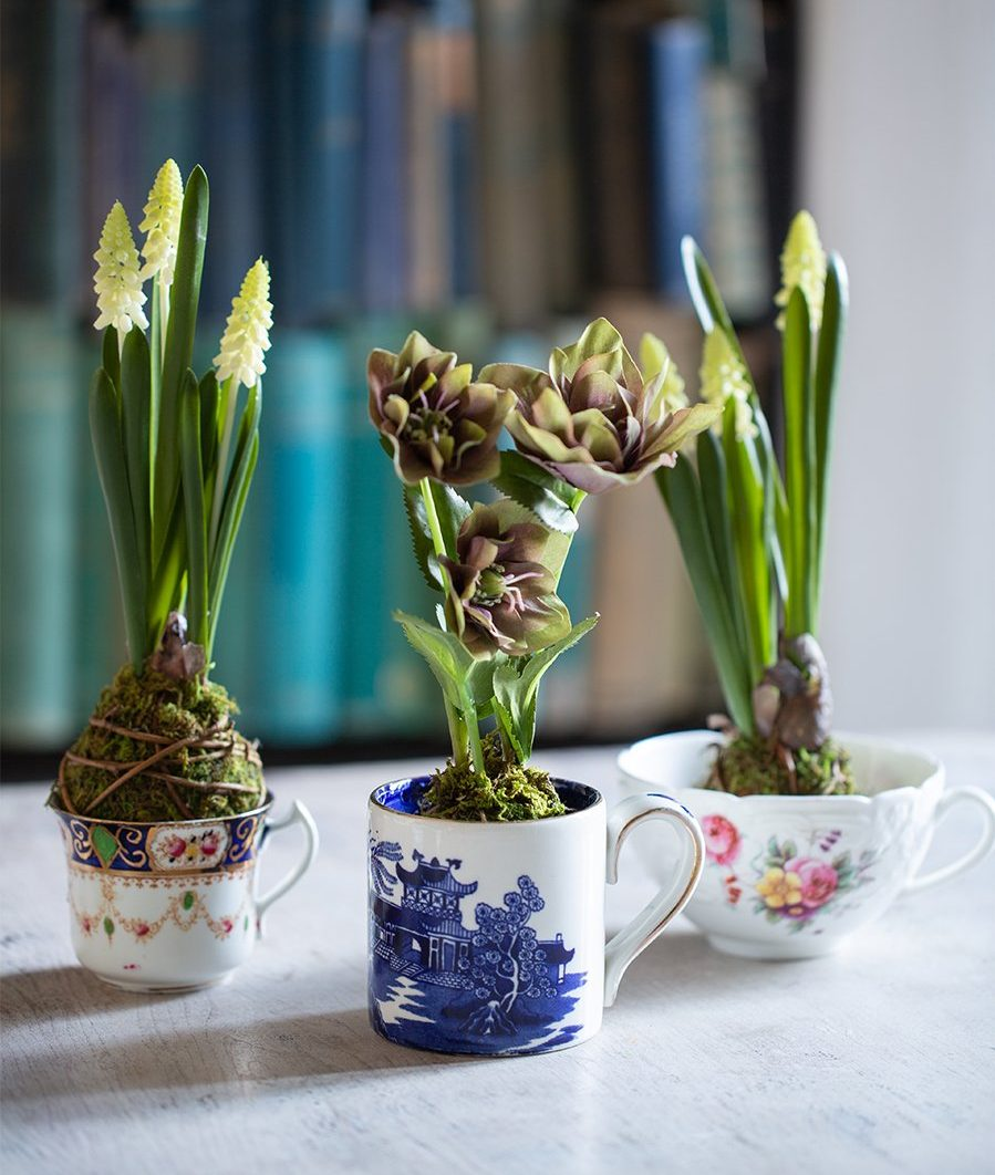 faux spring bulbs