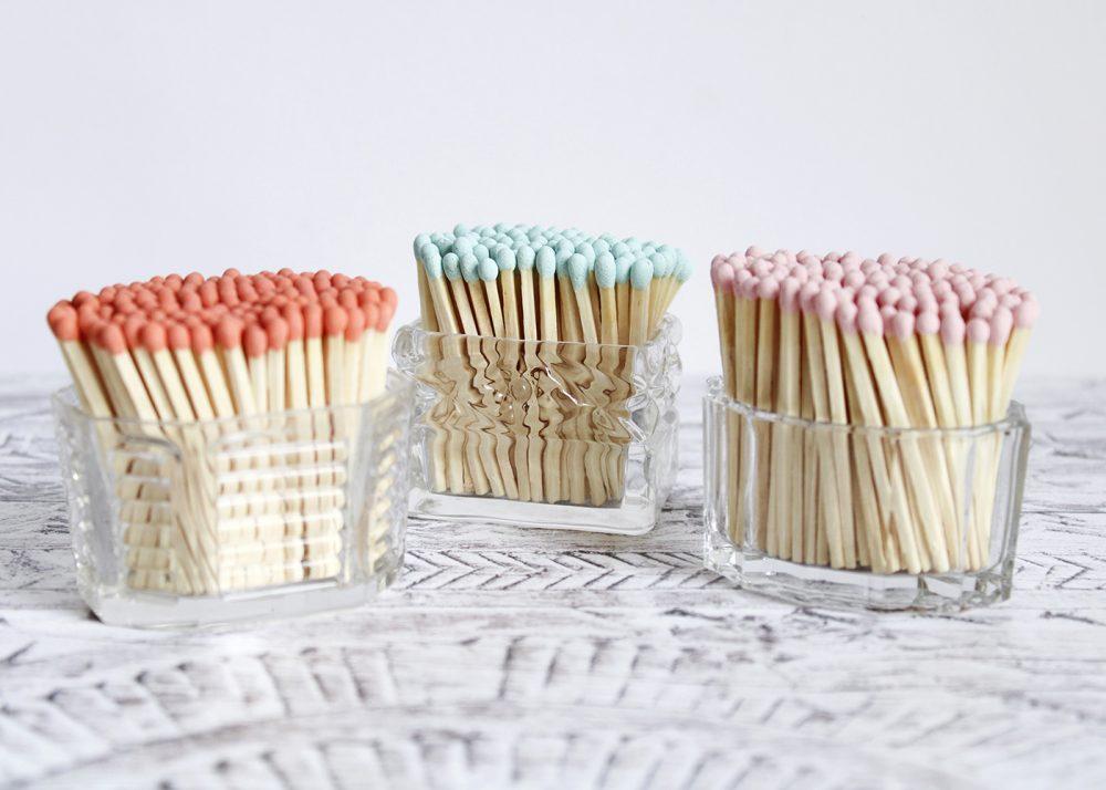pretty coloured matches