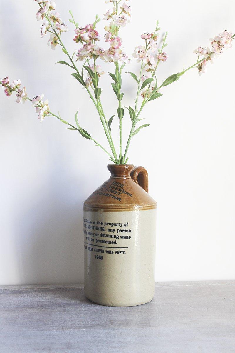 salt glaze cider jug vintage