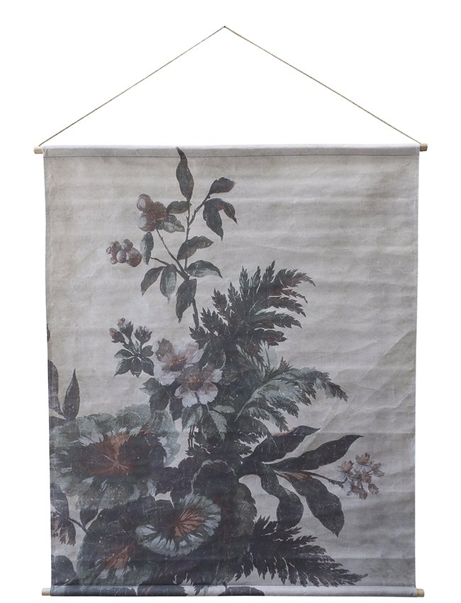 Vintage french style printed wall hanging