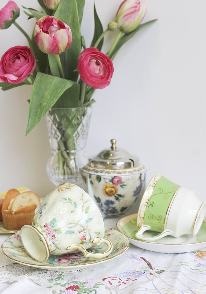 vintage afternoon tea cups