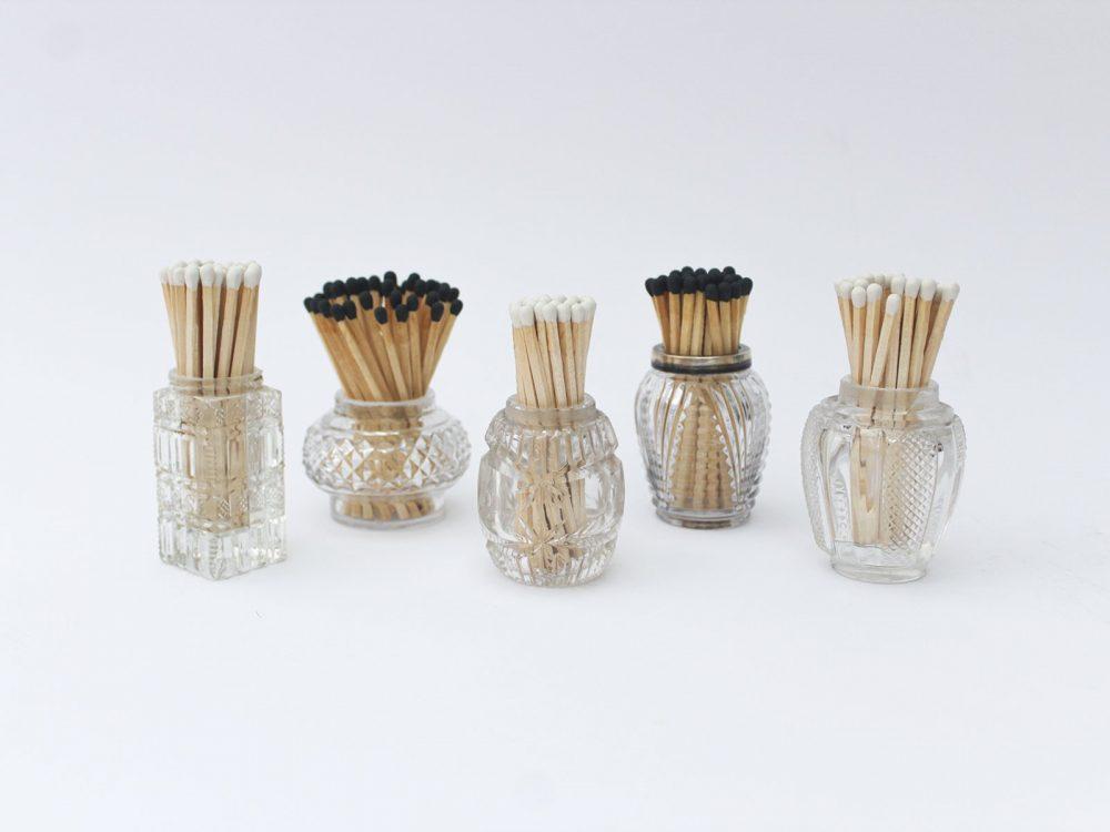 vintage match pots